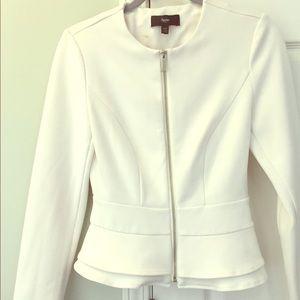 Mossimo peplum jacket / blazer - Ivory XS